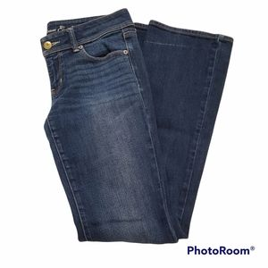 AEO slim bootcut faded dark wash jeans size 8